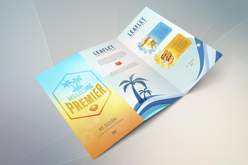 HAJTOTT SZÓRÓLAP Leaflet, flyer, leporelló, Premier Nyomda